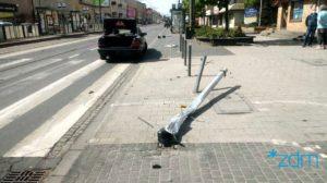 glogowska fot. zdm 300x168 - Poznań: Kolejne sygnalizacje świetlne uszkodzone - bo kierowca jechał za szybko...