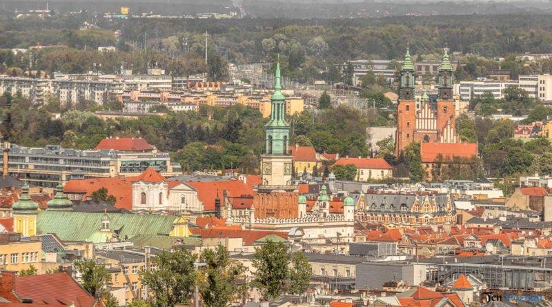 Poznań Stare Miasto Ratusz katedra panorama