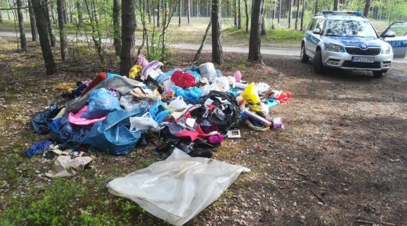 śmieci w lesie 2 fot. policja