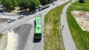testowanie buspasow 2 fot. pim 300x169 - Poznań: Testowanie buspasów w rejonie skrzyżowania Lechickiej i Naramowickiej