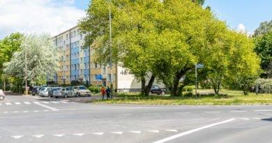 Kurlandzka wiadukt os. Czecha zieleń fot. Sławek Wąchała