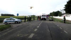 wypadek 4 gaj maly fot. policja 300x169 - Szamotuły: Wypadek w Gaju Małym. Rannego zabrał śmigłowiec LPR
