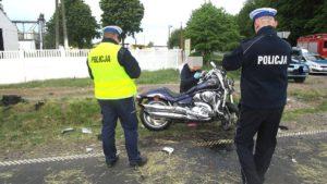 wypadek gaj maly fot. policja 1 300x169 - Szamotuły: Wypadek w Gaju Małym. Rannego zabrał śmigłowiec LPR