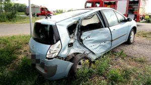 wypadke 3 gaj maly fot. policja 300x169 - Szamotuły: Wypadek w Gaju Małym. Rannego zabrał śmigłowiec LPR