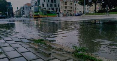 Poznań: Burza, korki i wypadki