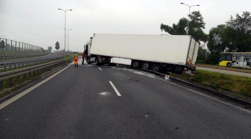 ciężarówka, Gniezno fot. policja