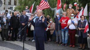 demonstracja i wiec fot. s. wachala11 300x169 - Poznań: PiS i Młodzi Nowocześni, czyli dwie demonstracje na jednym placu