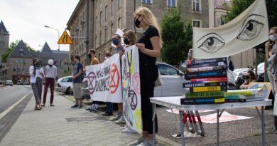 Extinction Rebellion Poznań i Młodzieżowy Strajk Klimatyczny, fot. Maria Krawczyk