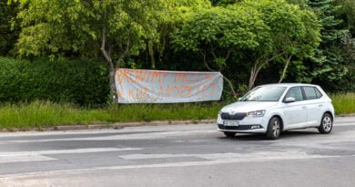 Kurlandzka - Stop wycince drzew baner fot. Sławek Wąchała