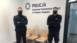 pozar 3 fot. policja 300x169 - Nowy Tomyśl: Policjanci uratowali ludzi z pożaru