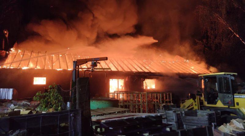 pożar fot. Heavy Rescue SGRT OSP Mosina