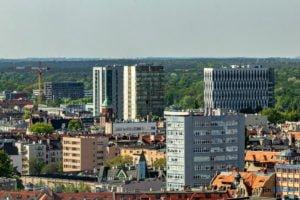 poznan z poziomu dachu. ataner ul. towarowa 39 fot. slawek wachala 8 300x200 - Poznań: Jeden z najwyższych budynków w Poznaniu. Jaki jest z niego widok?