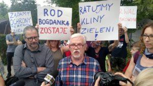 """protest rod bogdanka 1 300x169 - Poznań: Czy uda się ocalić ROD """"Bogdanka""""? Działkowcy protestują"""