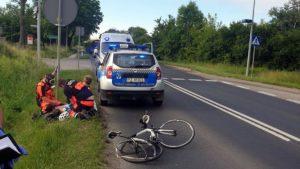 rowerzysta czerwonak fot. sg czerwonak 300x169 - Poznań: Kierowca samochodu staranował rowerzystę pod Miękowem