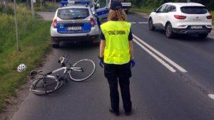 rowrzysta fot. sg czerwonak 300x169 - Poznań: Kierowca samochodu staranował rowerzystę pod Miękowem
