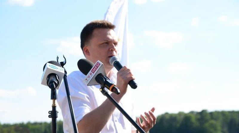szymon holownia 3 fot. k. adamska 800x445 - Poznań: Ekipa Szymona Hołowni na placu Wolności