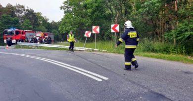 wypadek jarocin fot. policja 390x205 - Dąbrówka: Wypadek na S11. Cztery osoby ranne