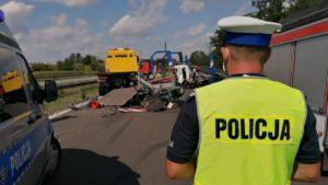 a2 fot. policja 300x169 - Września: Wypadek na A2 w stronę Poznania. Trasa zablokowana!