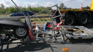 a2 fot. policja5 300x169 - Września: Wypadek na A2 w stronę Poznania. Trasa zablokowana!