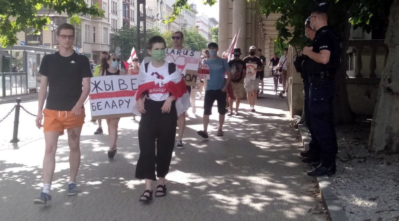 Białoruś demonstracja