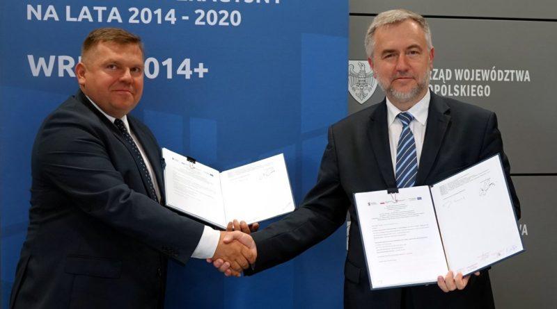 Marszałek Marek Woźniak, Krzysztof Urbaniak, prezes WARP fot. UMWW