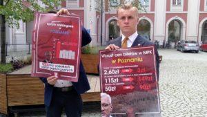 mloda prawica podwyzki cen biletow 300x169 - Poznań: Młoda Prawica poszła do prezydenta. Z kalkulatorem