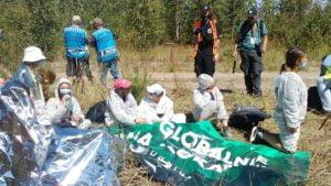 Konin: Aktywiści Obozu dla Klimatu zatrzymali pracę kopalni
