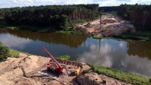 obwodnica wronek fot. umww 300x169 - Wronki: Budowa obwodnicy - zaczęły się prace przy moście!