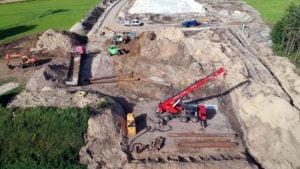 obwodnica wronek fot. umww2 300x169 - Wronki: Budowa obwodnicy - zaczęły się prace przy moście!