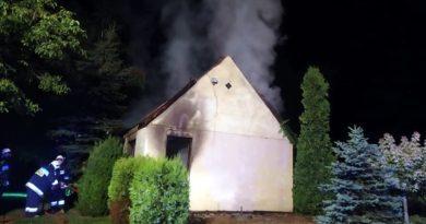 pożar fot. OSP Ślesin
