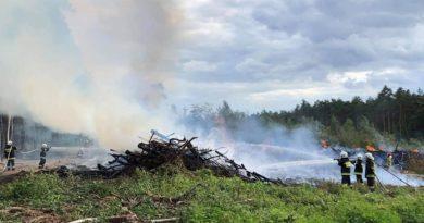 pożar lasu fot. OSP Chorzeń