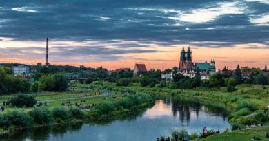 Rzeka Warta Miasto Poznań fot. Sławek Wąchała