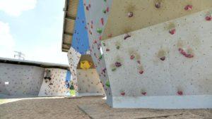 scianka wspinaczkowa przy hlonda fot. ump4 300x169 - Poznań: Ścianki wspinaczkowe nad Wartą oddane do użytku