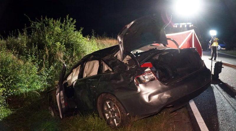 wypadek fot. OSP Kobyla Góra