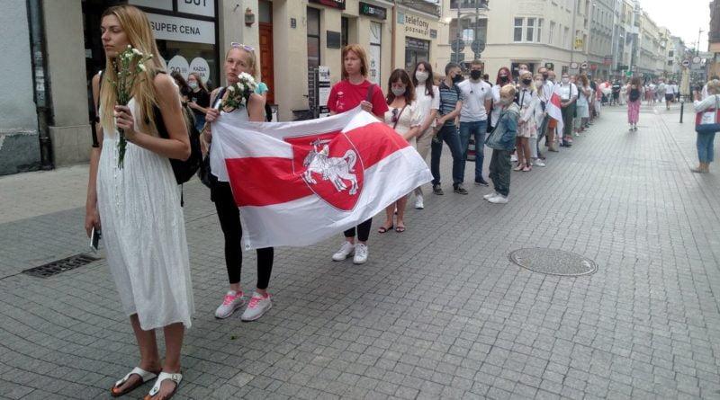 demonstracja w sprawie Białorusi na Półwiejskiej