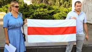 demonstracja solidarni z bialorusia fot. s. wachala13 300x169 - Poznań: Solidarni z Białorusią