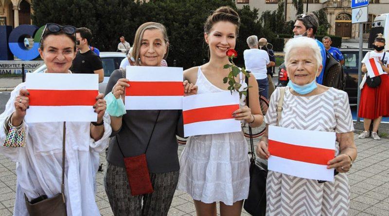 demonstracja Solidarni z Białorusią fot. S. Wąchała
