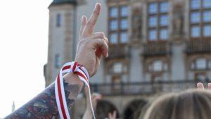 demonstracja solidarni z bialorusia fot. s. wachala7 300x169 - Poznań: Solidarni z Białorusią