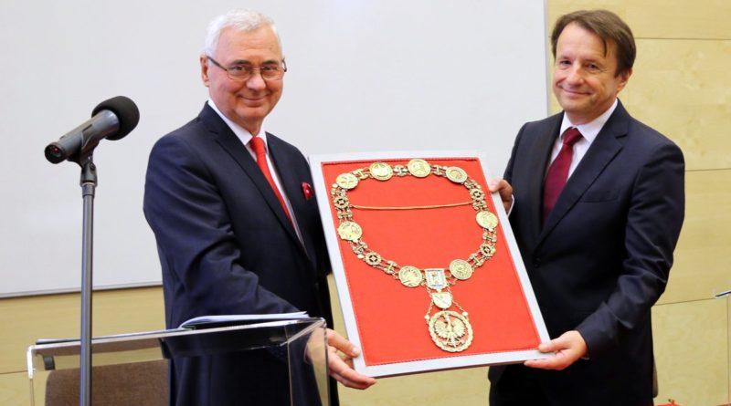 Insygnia rektorskie Uniwersytet Przyrodniczy w Poznaniu