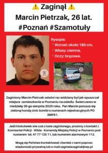 marcin pietrzak fot. zaginieni cala polska 212x300 - Poznań: Zaginął 26-letni Marcin Pietrzak! Czy ktoś go widział?