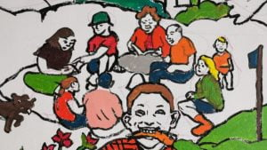 mural czecha lecha fot. s. wachala12 300x169 - Poznań: Mural dla Klimatu nabiera kształtów i kolorów
