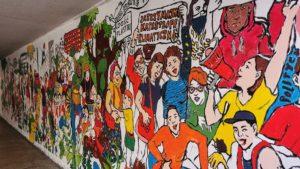 mural czecha lecha fot. s. wachala13 300x169 - Poznań: Mural dla Klimatu nabiera kształtów i kolorów