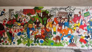 mural czecha lecha fot. s. wachala14 300x169 - Poznań: Mural dla Klimatu nabiera kształtów i kolorów