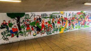mural czecha lecha fot. s. wachala2 300x169 - Poznań: Mural dla Klimatu nabiera kształtów i kolorów