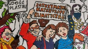 mural czecha lecha fot. s. wachala5 300x169 - Poznań: Mural dla Klimatu nabiera kształtów i kolorów