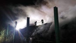 pozar fot osp ksrg koscian2 300x169 - Kościan: Pożar na złomowisku!