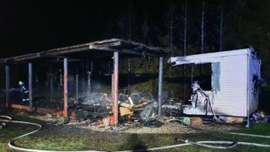 Pożar nad jeziorem Niepruszewskim