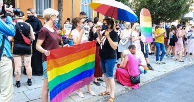 protest przeciw homofobii fot. S. Wąchała