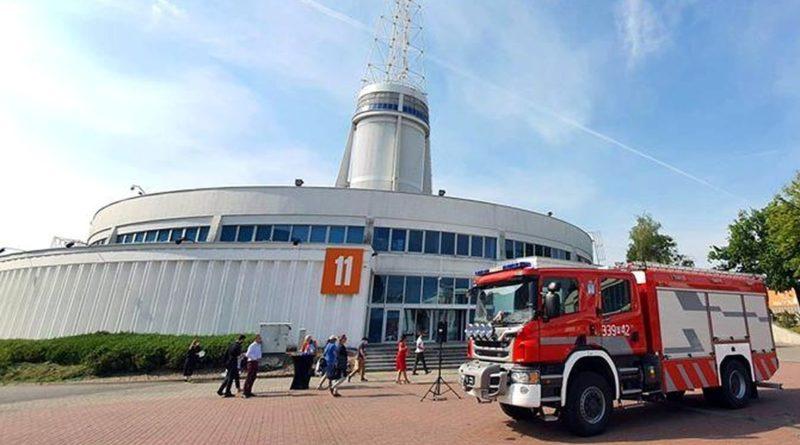 samochód strażacki na MTP fot. MTP
