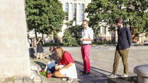 solidarni z bialorusia forum mlodych pis fot. s. wachala7 300x169 - Poznań: Kameralna demonstracja Młodej Prawicy